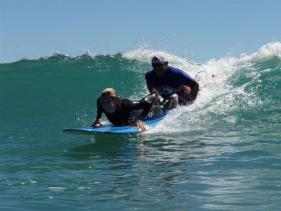 Surfing Whakatane, New Zealand