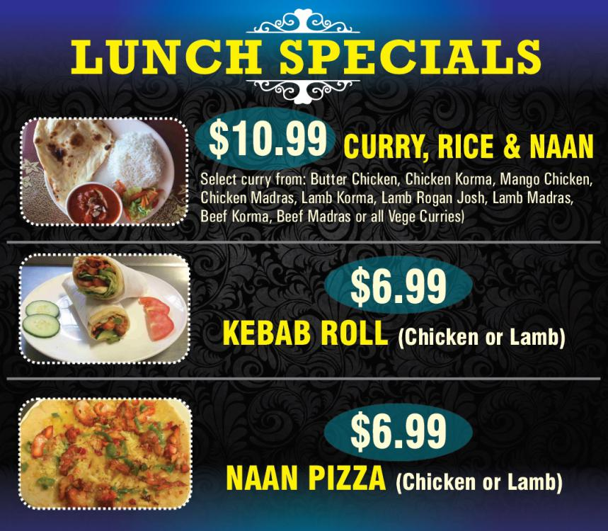 Kopeo indian restaurant bar takeaway whakatane for Lunch specials